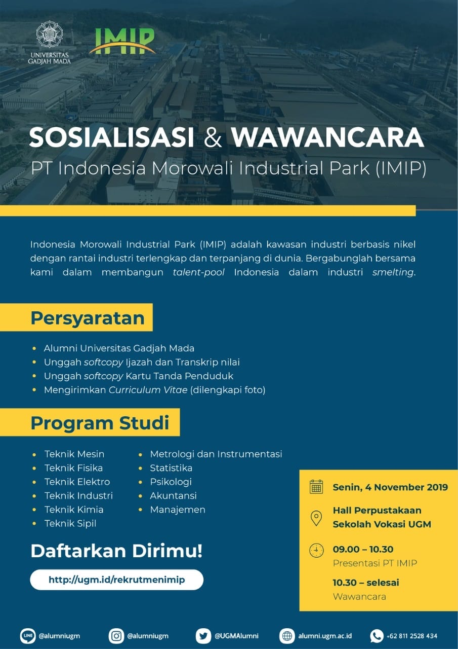 Pt Indonesia Morowali Industrial Park Imip Portal Alumni Universitas Gadjah Mada